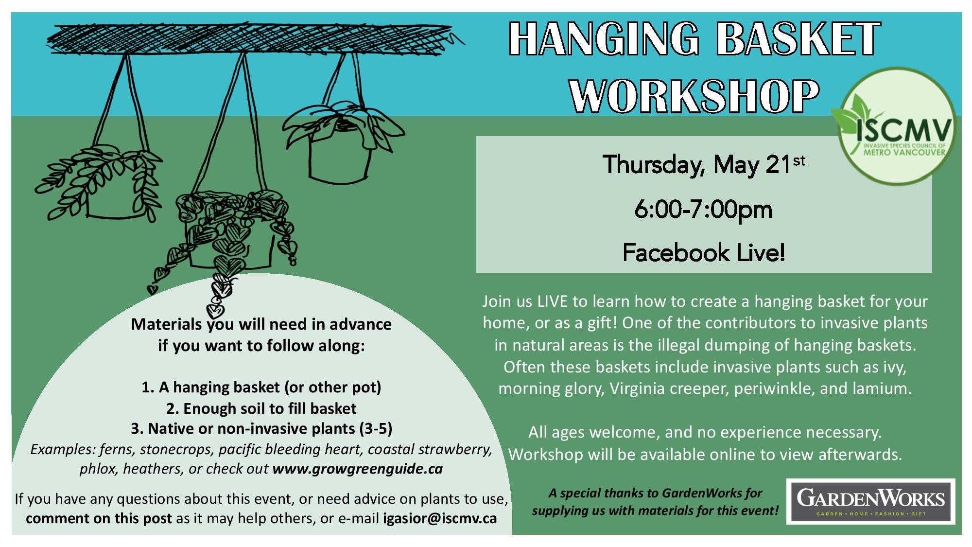 Hanging Basket Workshop photo