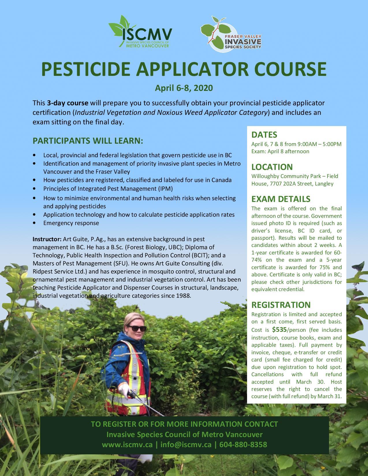 Pesticide Applicator Course photo